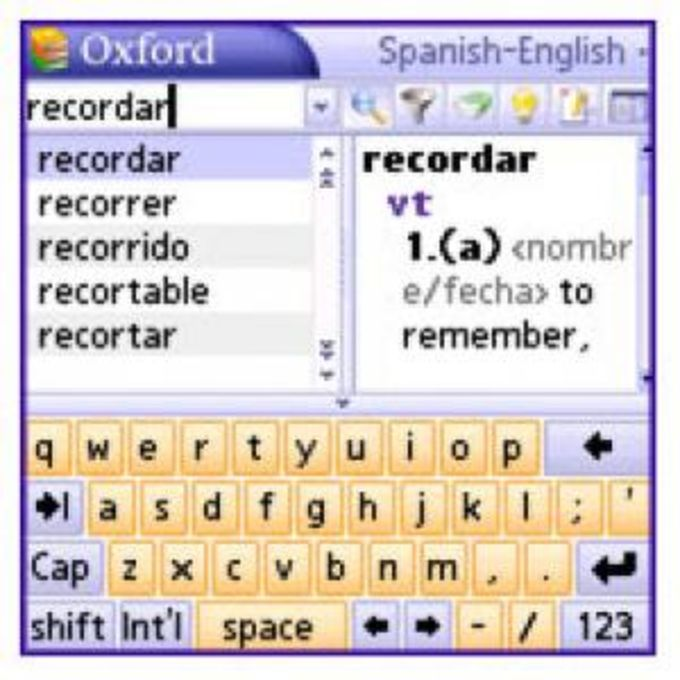 MSDict Pocket Oxford Spanish Dictionary