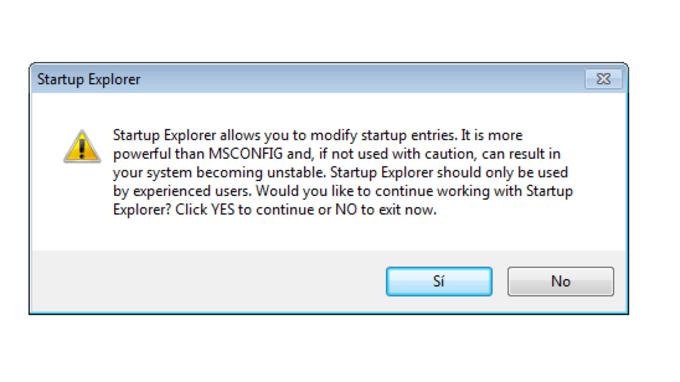PC Tools Startup Explorer