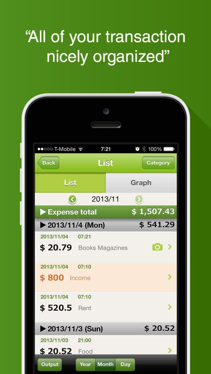"""Quick Money Recorder Premium"" Simple but Smart Money Tracker for Personal Finance and Budget management"