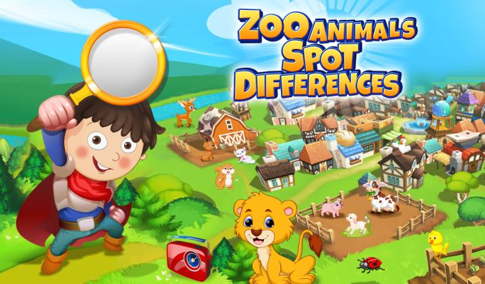 Zoo Animals Spot Differences