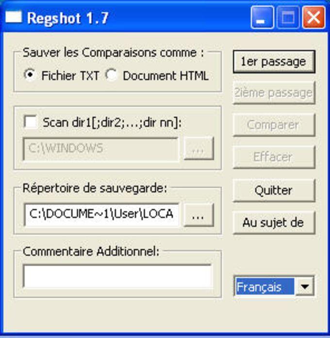 Regshot Portable