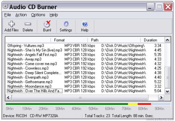 Audio CD Burner