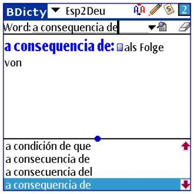 BDicty - Diccionario español->alemán