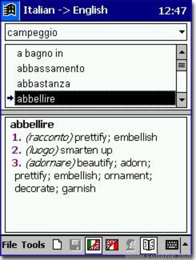 Travel Dictionary English/Italian