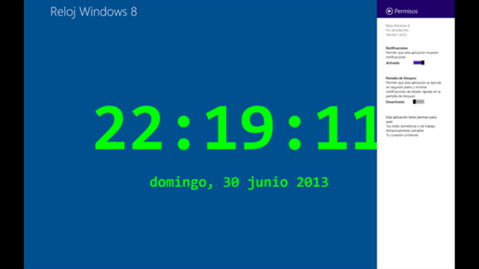 Reloj Windows 8 free