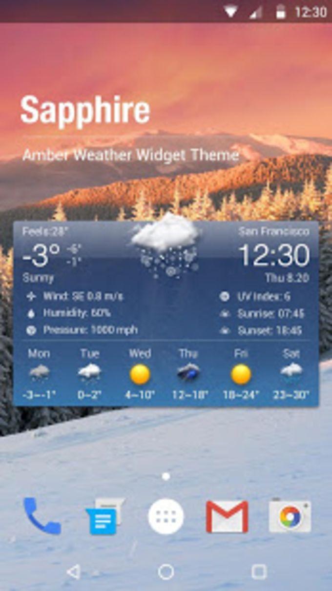 Free Weather Forecast  Clock Widget