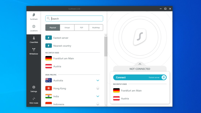 Surfshark VPN for Windows