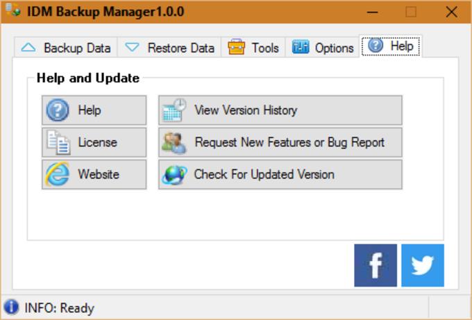 IDM Backup Manager