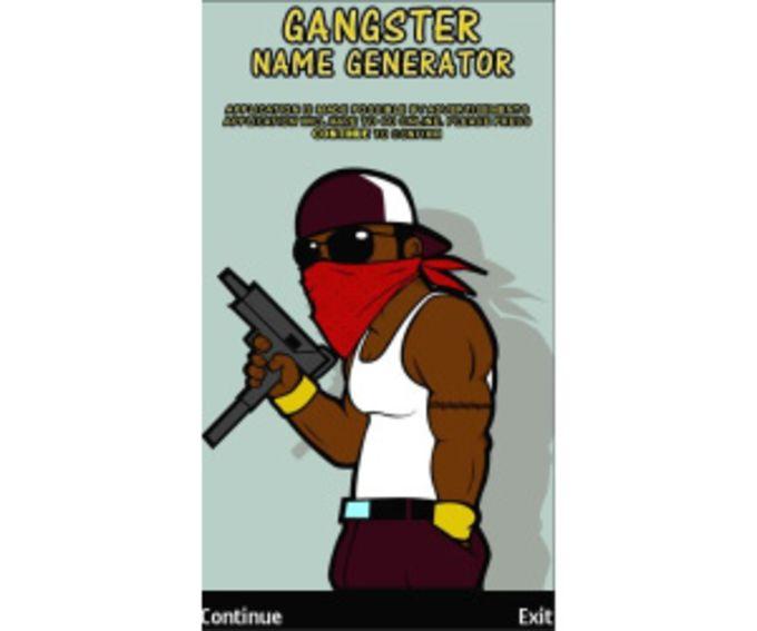 Gangster Name Generator