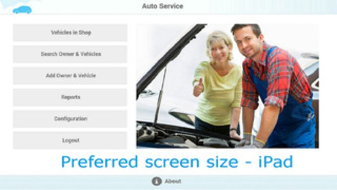 Auto Repair Shop Management System for iPad