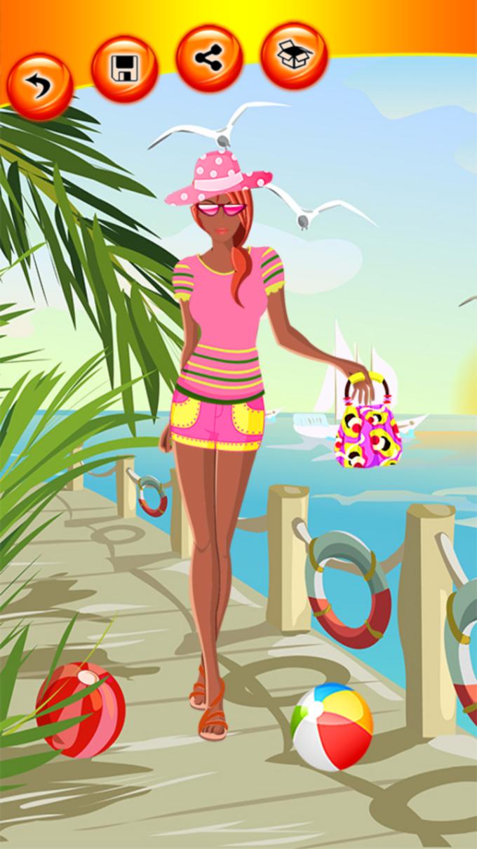 Beach Girl Dress Up Games
