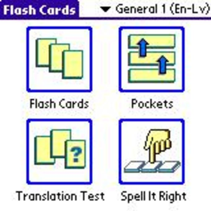ECTACO FlashCards English - Latvian