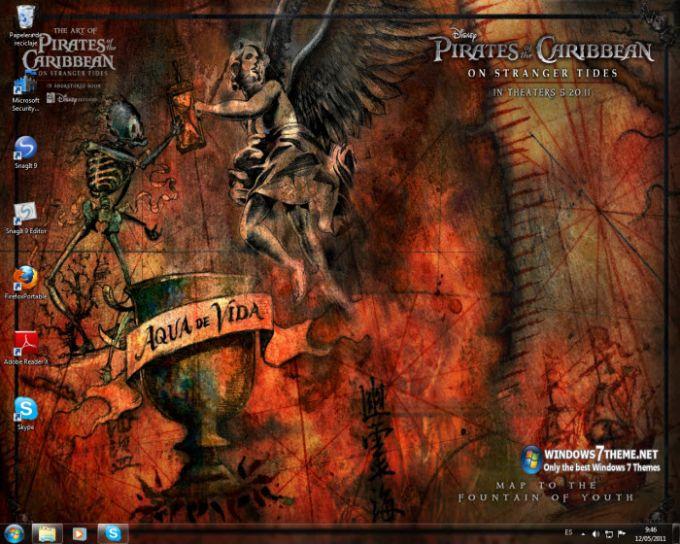 Pirates of the Caribbean 4 Windows 7 Theme