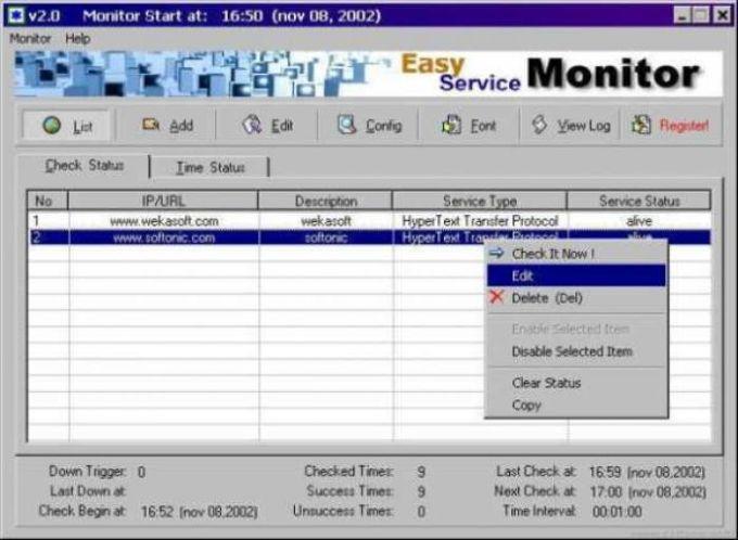 Easy Service Monitor