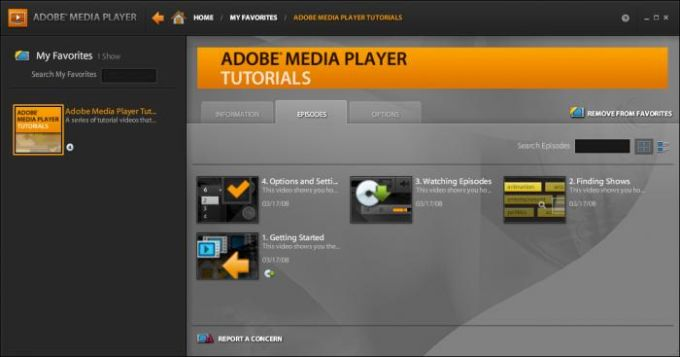 Adobe Media Player
