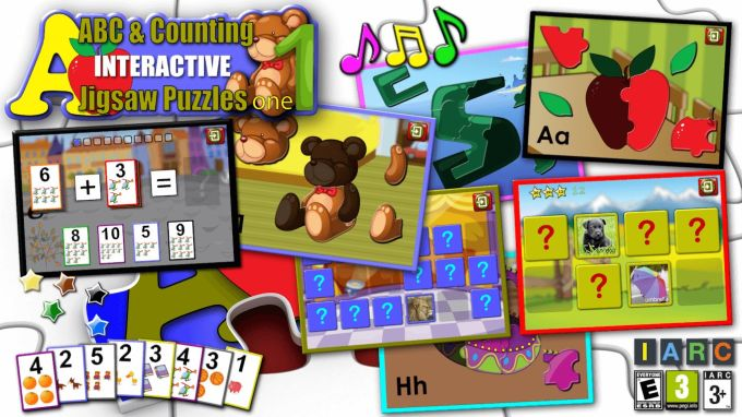 Kids ABC and Counting Jigsaw Puzzle game