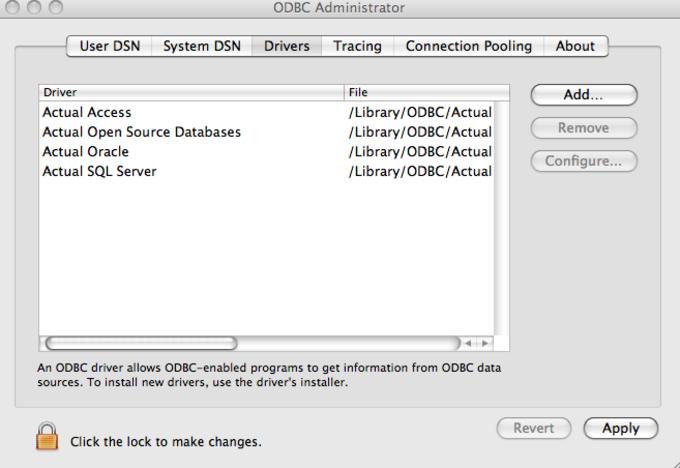 Actual ODBC Driver for Microsoft Access