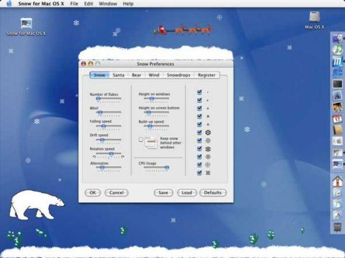 Snow Desktop Animation