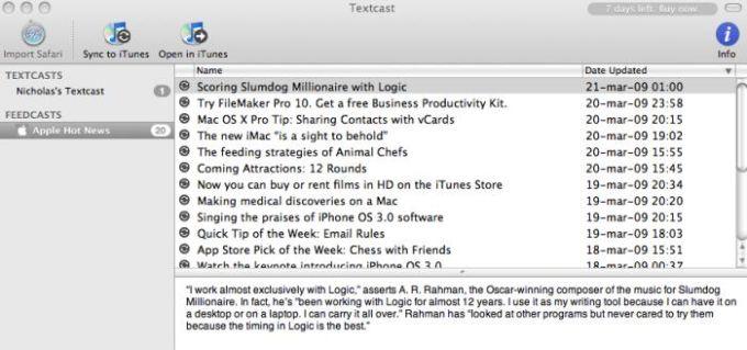 Textcast