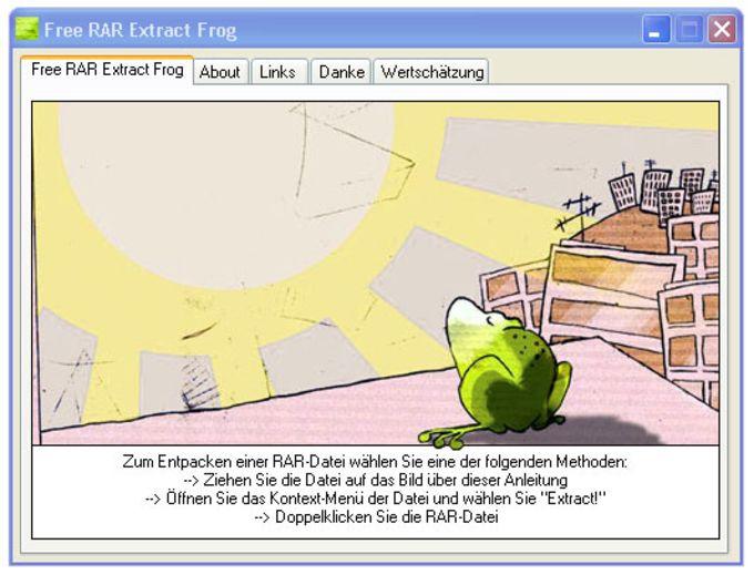 Free RAR Extract Frog