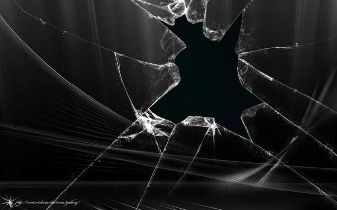 Broken Aero Vista Black Wallpaper