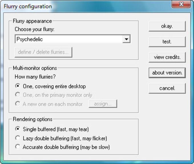 Flurry screen saver for Windows