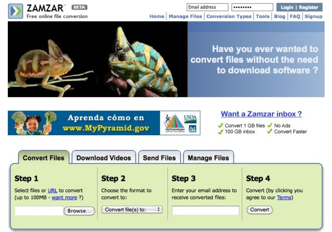 Zamzar online convert various files without the need to download software zamzar ccuart Gallery