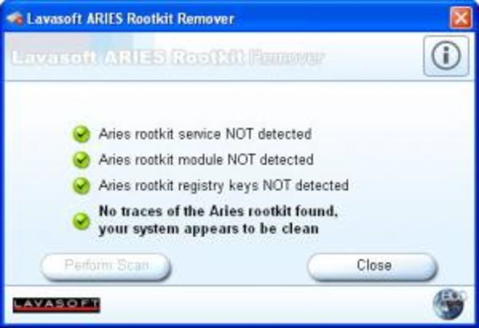 Lavasoft ARIES Rootkit Remover