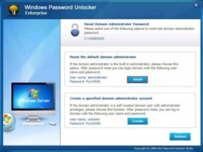 Windows Password Unlocker Standard