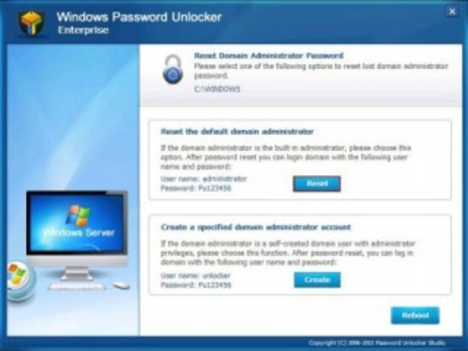 Windows Password Unlocker Standard