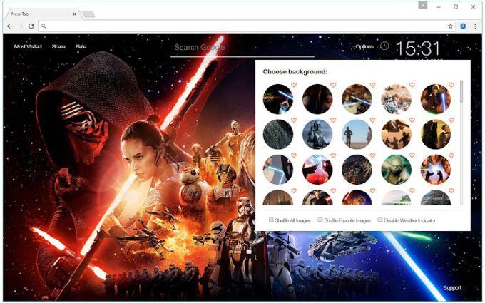 Star Wars Wallpaper HD New Tab Themes