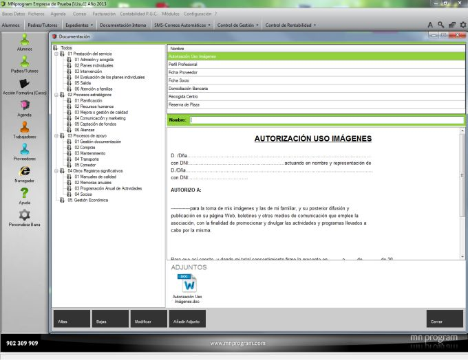 MNprogram Software Guarderías