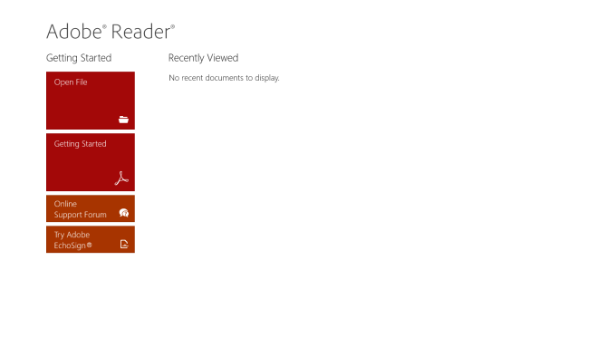 Adobe Reader for Windows 10