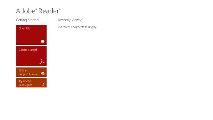 Adobe Reader Touch para Windows 10