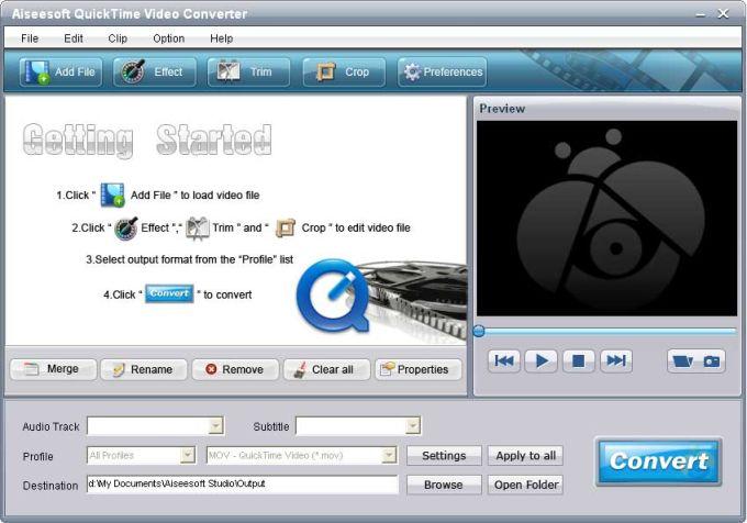 Aiseesoft QuickTime 動画変換