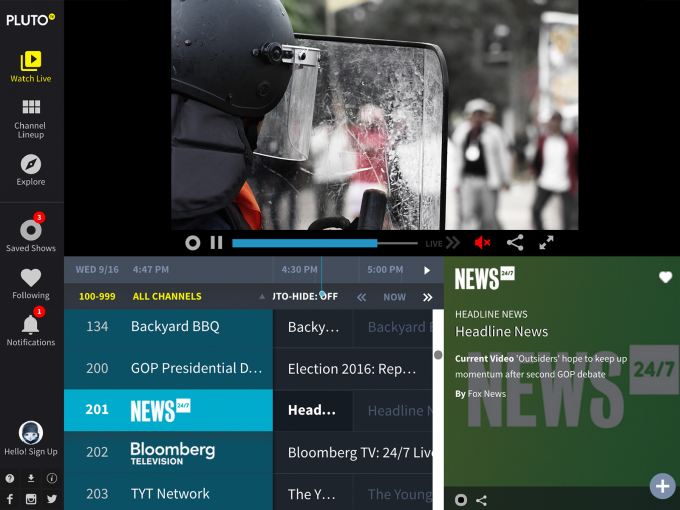 Pluto TV: 100+ Free Channels