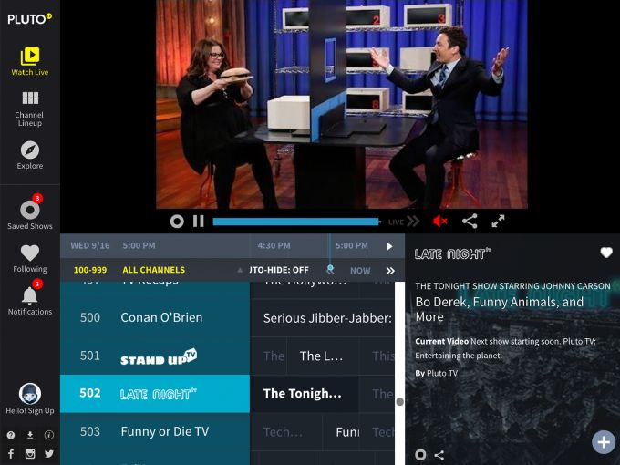 pluto tv 100 free channels download