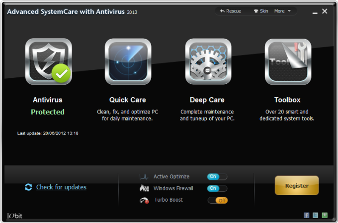 Advanced SystemCare with Antivirus