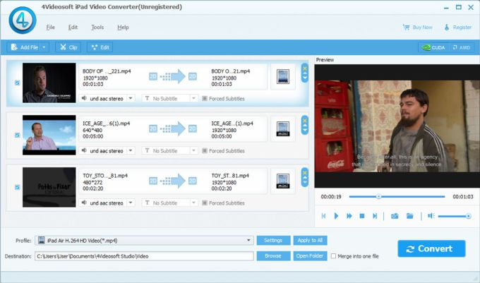 4Videosoft iPad Video Converter