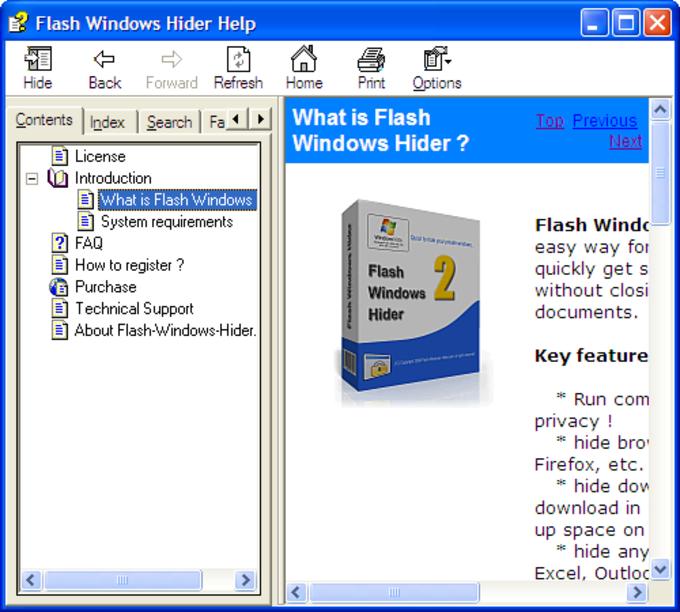 Flash Windows Hider