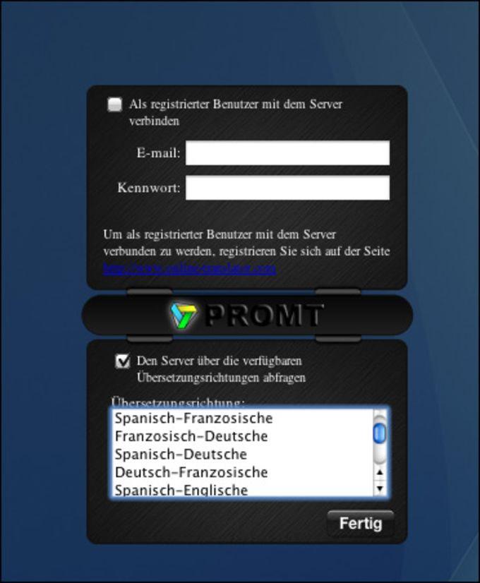 @promt Mac Englisch-Deutsch/Deutsch-Englisch