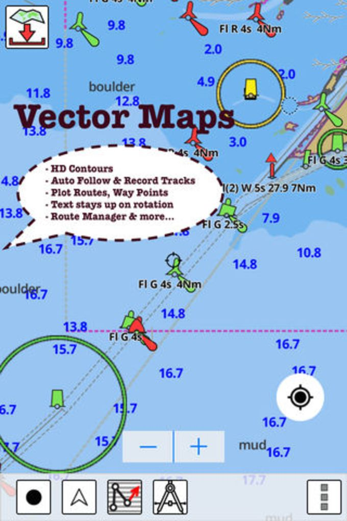 i-Boating:USA Nautical / Marine Charts & Lake Maps