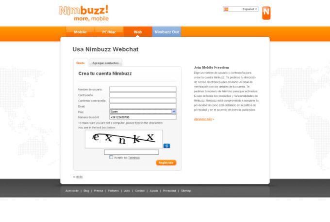 Nimbuzz Webchat