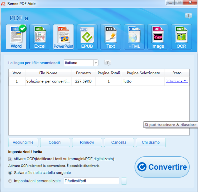 Renee PDF Convertitore