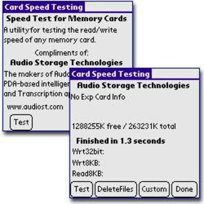 Card Speed Testing Utility