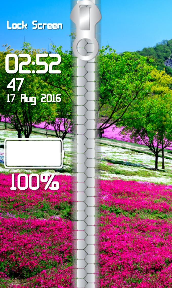 Nature Zipper Lock Screen