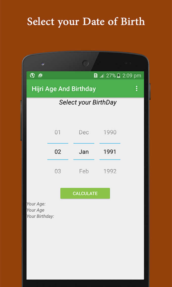 Hijri Age- Birthday Calculator