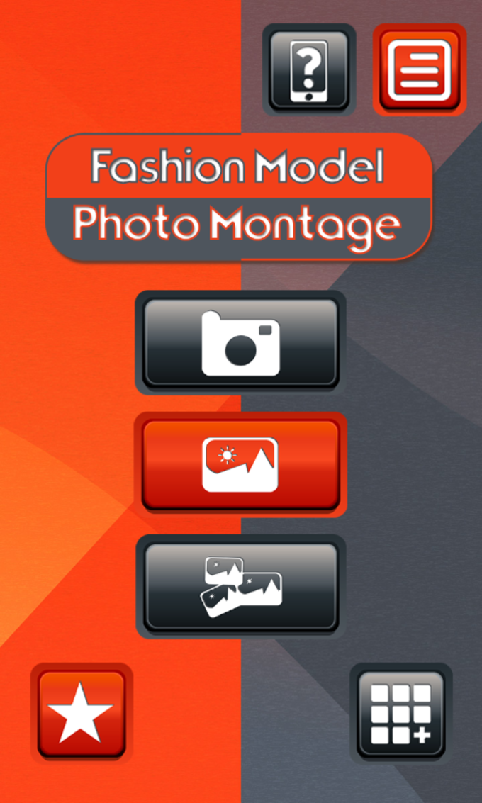 Fashion Model Photo Montage