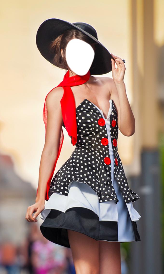 Fashion Girl Photo Montage