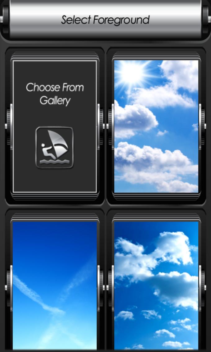 Blue Sky Zipper Lock Screen